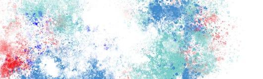 Colourful schizzi il colore su grande tela illustrazione di stock
