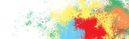 Colourful schizzi sulla grande tela royalty illustrazione gratis