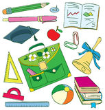 Colourful school doodle. Vector illustration Stock Photo