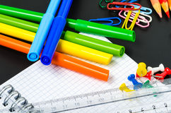 Colourful School Supplies stock images