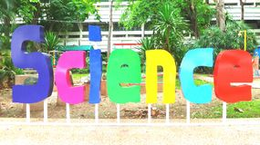 Colourful science sign Royalty Free Stock Photography