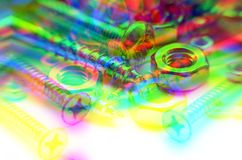Colourful Screws And Bolts Royalty Free Stock Photos