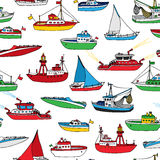 Colourful seamless nautical pattern. Stock Image