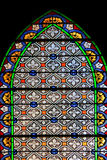 Colourful seamless stained glass in Chusclan, France Royalty Free Stock Image