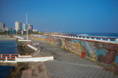 Colourful Seawall Stock Image