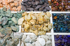 Colourful semi-precious stones Stock Images