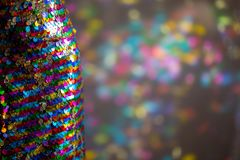 Sequin Dress with colourful reflections royalty free stock image