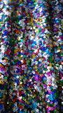 Colourful sequins embroidery. Brighten the dress stock photos