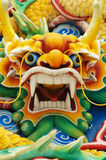 Colourful Serpent Head. Close-up of a Carved Serpents head at a Chinese Temple in Kuala Lumpur, Malaysia Stock Photos