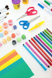 Colourful set of artistic tools Royalty Free Stock Image