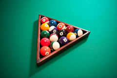 Colourful set of billiard balls Stock Photo