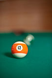 Colourful set of billiard balls Stock Photography