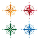 Colourful set of compasses Stock Image