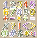 Colourful set of numbers Royalty Free Stock Image