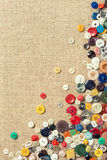 Colourful sewing buttons with copy space Royalty Free Stock Images