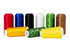 Colourful Sewing Thread Royalty Free Stock Photography