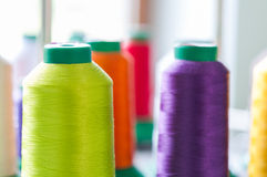 Colourful Sewing Threads Royalty Free Stock Images