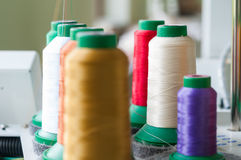 Colourful Sewing Threads Royalty Free Stock Photos