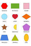12 Colourful Shapes. A set of 12 Colourful shape illustrations Stock Images