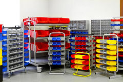 Colourful shelf assortment Royalty Free Stock Photography