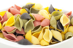 Colourful shell noodles Stock Photography