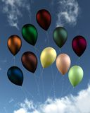 Colourful Shiny Balloons Stock Photography