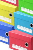 Colourful Shoe Boxes Royalty Free Stock Photo