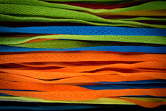 Colourful shoelaces. Many of colourful shoelaces background stock photography
