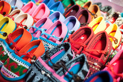 Colourful shoes Royalty Free Stock Image
