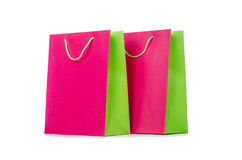 Colourful shopping bags Stock Image