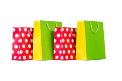 Colourful shopping bags Stock Photography