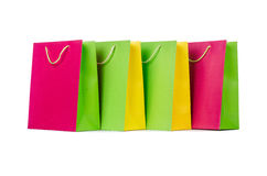 Colourful shopping bags Stock Photo