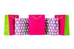 Colourful shopping bags Stock Photos