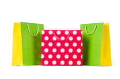Colourful shopping bags Royalty Free Stock Images