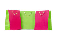 Colourful shopping bags Stock Photos