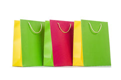 Colourful shopping bags Stock Images