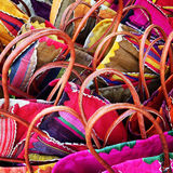 Colourful shopping baskets abstract Stock Photography