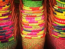 Colourful shopping baskets abstract Royalty Free Stock Images