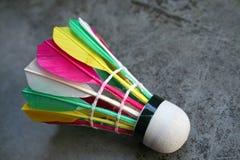 Colourful Shuttlecock. Colourful badminton shuttlecock royalty free stock photo