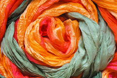 Colourful silk. As abstract background Stock Photography