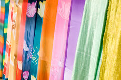 Colourful Silk Fabrics Royalty Free Stock Photography