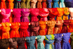 Colourful Silk Scarves royalty free stock image
