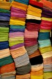 Colourful silk scarves Stock Images