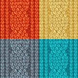 Colourful Six-Stitch Cable Stitch Textures. Royalty Free Stock Photos