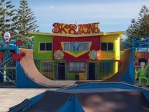 Colourful skatepark. A colourful skatepark under a blue sky Royalty Free Stock Photography
