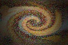 Colourful skręta różnorodny wymiar na zmroku dla abstrakcjonistycznego backgroun Zdjęcie Royalty Free
