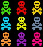 Colourful skulls Royalty Free Stock Images
