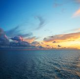 Colourful sky over sea Royalty Free Stock Photos