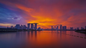 Colourful Skyline of Singapore Stock Photo