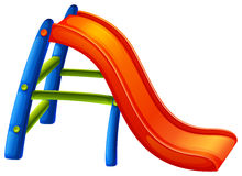A colourful slide. Illustration of a colourful slide on a white background Stock Photography